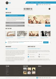 Silk - Unique Template on Web Design Served