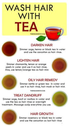 wash hair with Tea