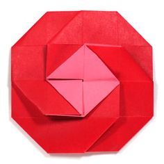 Trendy origami rose box step by step Ideas Origami Rose Box, Origami And Kirigami, Origami Fish, Origami Paper, Origami 2d Flower, Oragami, Origami Letter Fold, Letter Folding, Origami Envelope