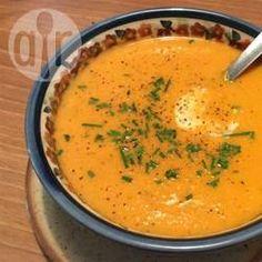 Foto recept: Romige rode paprikasoep