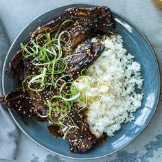 """This Instant Pot short rib recipe uses Korean-style short ribs, also known as flanken-style ribs, which are cut across the bone rather than between them (""""English-cut"""" ribs). Because they have a lot of surface area, the ribs soak up a marinade well, and they cook in much less time than their English-cut counterparts."""