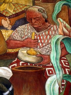 Murals at Palacio Nacional, México City, detail, Diego Rivera