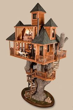 Neat doll house or bird house ....too cute !