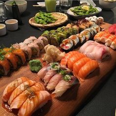 Can't wait to have sushi! Have any sushi platter pics? DM us and your photo might just make it on our page! Cute Food, I Love Food, Good Food, Yummy Food, Sushi Recipes, Asian Recipes, Sushi Platter, Food Porn, Food Goals