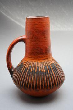 Orange Carstens Tonnieshof stylish handled vase