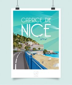 Art Deco Posters, Book Posters, France Drawing, Nice Ville, Nice France, City Illustration, Paris Theme, World Cities, Vintage Travel Posters