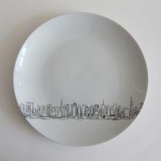 Skyline Dessert Plates  by Rust Designs