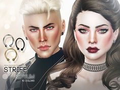 Small Septum in 10 colors Found in TSR Category 'Sims 4 Female Earrings' Sims 3, Best Sims, Sims 4 Cas, Skin Piercing, Face Piercings, Cartilage Piercings, Rook Piercing, Piercing Ideas, The Sims 4 Skin