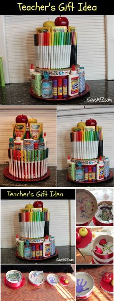 Teacher's Year End Gift Ideas!!!  I LOVE THIS ONE!!!  #Teachers #Gifts #SchoolSupplies http://www.isavea2z.com/end-of-year-teachers-gift-ideas/