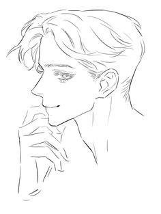 Pencil Art Drawings, Art Drawings Sketches, Cute Drawings, Drawing Base, Manga Drawing, Anime Poses Reference, Hair Reference, Regard Animal, Sketches Tutorial