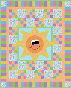 Great baby quilt idea - You Are My Sunshine by Whimsical Workshop