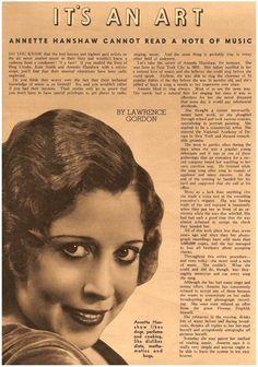 Annette Hanshaw article