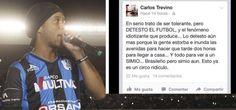 Carlos Treviño arrepentido de llamar simio a Ronaldinho