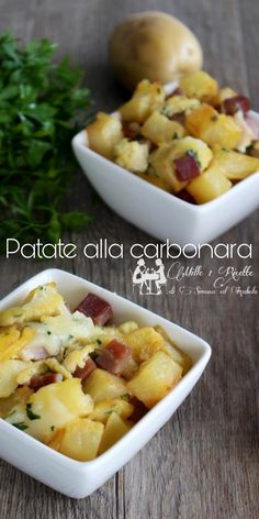 Le patate alla carbonara sono un piatto completo che piace proprio a tutti gustoso e saporito spesso risolve delle veloci cena in cui i da farsi di casa mi hanno impegnato per tutto il giorno. #patate #carbonara #paranzo #mille1ricette