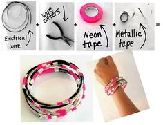electric wire bracelets