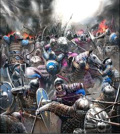 Battle between Ilkhanate and Golden Horde. Tension has rised between two grandson of Genghis Khan because Berke refused to aid Hulagu's Anatolian campaign because he is Muslim. These conflicts led to fragmentation of the Empire. Military Art, Military History, Golden Horde, Propaganda Art, Classical Antiquity, Viking Warrior, Medieval Knight, Asian History, Environment Concept Art