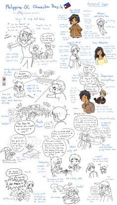 Philippine OC Character Profile by randomsketchez on DeviantArt Hetalia Anime, Hetalia Fanart, Hetalia Philippines, Hetalia Headcanons, Hetalia Characters, Character Profile, I Love To Laugh, Just In Case, Deviantart