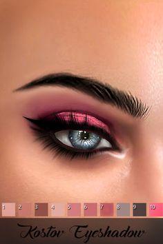 Eyeshadow - The Sims 4 Catalog Los Sims 4 Mods, Sims 4 Game Mods, Sims Games, Sims 4 Cc Eyes, Sims 4 Mm, Eyeliner Pencil, Kajal Pencil, Eyeliner Makeup, Makeup Samples