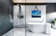 Ванная комната и море Bathtub, Interior Design, Bathroom, Pictures, Art, Standing Bath, Nest Design, Washroom, Craft Art