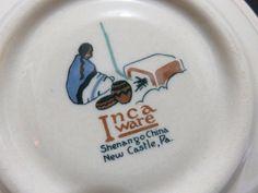 Nestle's Hot Chocolate Inca Ware Shenango China Cup & Saucer New Castle, PA  #NestlesHotChocolate