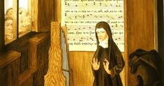 Hildegard von Bingen was one of the most important composers of the Medieval Period. In this lesson, learn how her compositions pushed the limits. Musicals, Bingen, Maria Goretti, Theologian, Lesson, Music, Catholic, Teaching Music, Video Lessons