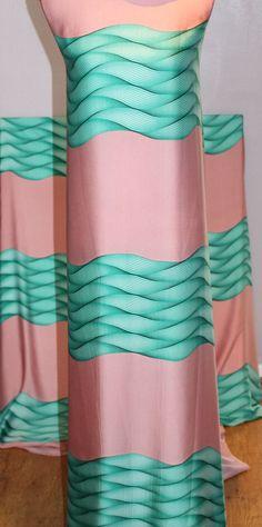Silk fabric by the yard  silk Printed Italian silk dress
