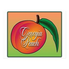 Peach Fruit, Georgia On My Mind, Atlanta Georgia, Smudging, Pride, Logos, Design, Products, Logo