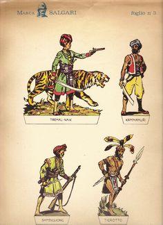 Soldatini di carta Marca Salgari