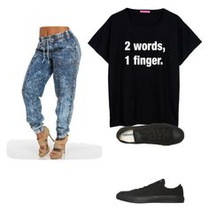 """""""fxck"""" by lenaluhu-sr ❤ liked on Polyvore featuring Converse"""