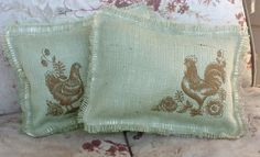 french country toile - roosters