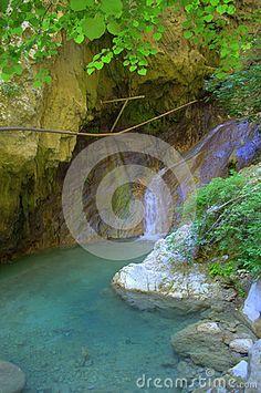 Nydri waterfall at Lefkada island,Greece