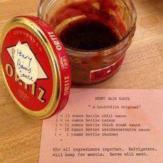Henry Bain Sauce, an old Louisville KY recipe