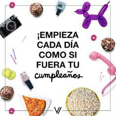 ¡Globos, regalos y mucho pastel! #Frases #Cumpleaños #Quotes
