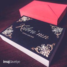 Kına davetiye kartı  •  Hennaabend Karte