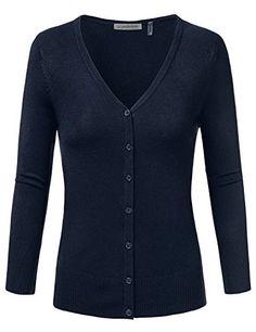 JJ Perfection Women's 3/4 Sleeve V-Neck Button Down Knit ... https://www.amazon.com/dp/B01H0TI8TI/ref=cm_sw_r_pi_dp_x_glw1xbPB5EZBT