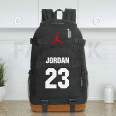 Michael Jordan 23 School Shoulder Travel Bags White Backpack, Sporty Style,  Sporty Fashion, 4181272baa
