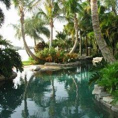 tropical landscape by MJM Design Group, Inc.