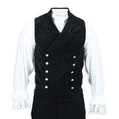 Sexy man's vest. Cavalier  Vest - Black Velvet