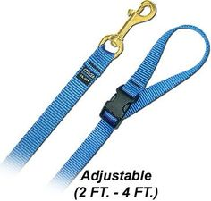 4' Pet Leash - Medium w/ Quick Release Handle - Navy Blue Dog Leash -- Continue to the product at the image link. (This is an affiliate link and I receive a commission for the sales)
