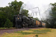 U.P. Railroad Steam Engine #844