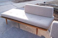 Mid Century Modern Custom Daybed Set with Perfect Vintage Fabric | modern✻love / Old School Artifacts