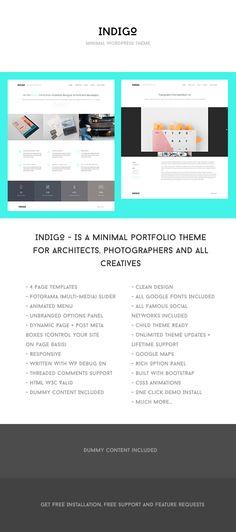 Indigo – Super Minimal Portfolio Theme
