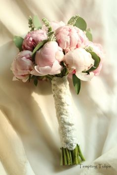 Peony wedding bouquet at Tempting Tulips