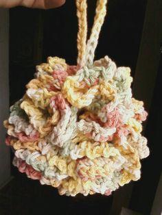 bath pouf! pattern; cotton