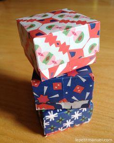 """Plier des petites boîtes en papier Origami. Ou : comment emballer des cadeaux, collectionner des """"bons points"""" ou ranger des trésors."""