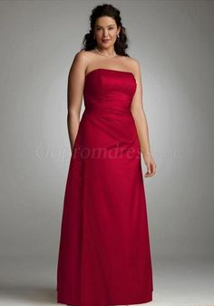Plus Size Red Bridesmaid Dress
