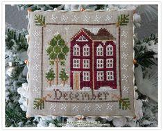 Ma petite déco de Noël - Le Blog de Cécile Cecile, Blog, December, Creations, Cross Stitch, Passion, Points, Crafts, Buildings