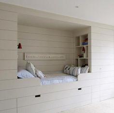 bed nook in baby's nursery