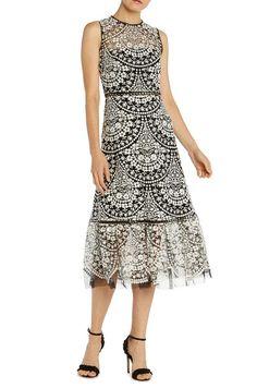 6d7736e3c3d ML Monique Lhuillier Embroidered Cocktail Dress