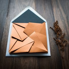 Origami for Everyone – From Beginner to Advanced – DIY Fan Origami Wedding Invitations, Photo Wedding Invitations, Wedding Stationary, Custom Invitations, Invitation Suite, Invitation Cards, Invites, Origami Star Box, Origami Envelope